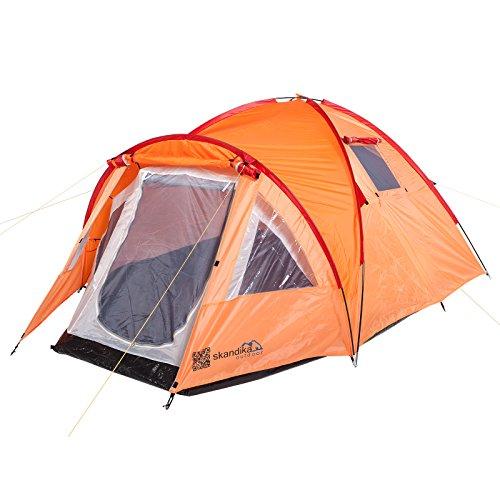 skandika Mora Tente de Trekking pour 3 Personnes Mixte Adulte, Orange, 320 x 230 cm