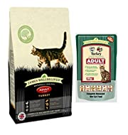 Animed Direct James Wellbeloved Adult Cat Food With Turkey Wet Pouches 48x85g