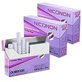 NICONON ニコノン 禁煙後の新しいカタチ。アイコス互換機 次世代ニコチン0mg加熱式スティック (ブルーベリーメンソール, 3箱セット(1箱20本入り))