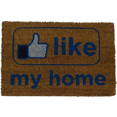 koko doormats Felpudo para Entrada de Casa Like my Home Original y Divertido/Fibra Natural de Coco con Base de PVC, 40x60 cm