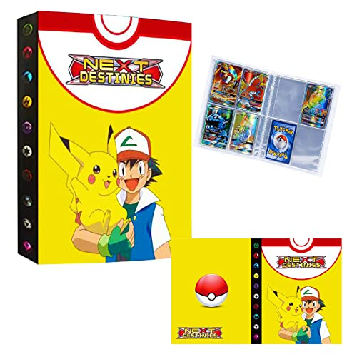 NBHHKP Álbum per cartas pokemon vmax, Álbum Titular de Tarjetas Carpeta, tcg juguetes Carpeta Libro, Capacidad para 240 Tarjetas - XK13