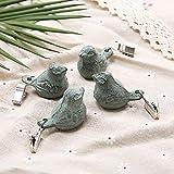 sycamorie 4 x Tischdeckenbeschwerer Tischdeckengewichte Antik Gusseisen 'Vogel' Beschwerer für Tischdecke Gartentisch Tischtuchgewichte Tischtuchbommeln (Grün) - 2