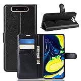 betterfon | Wallet Hülle Handytasche Schutzhülle Klapptasche Handyhülle Handy Tasche Schale Hülle für Samsung Galaxy A80 SM-A805 Schwarz