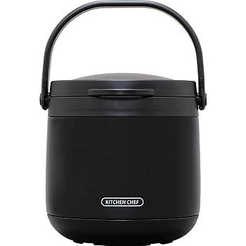 アイリスオーヤマ 保温調理鍋 ダブル真空 おまかせさん 4.5L 鍋 ロック機能付 レシピブック付 ブラック RWP-N45