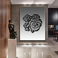 ダークフラワー絵の装飾アートワークファインアートプリントリビングルームの装飾壁画