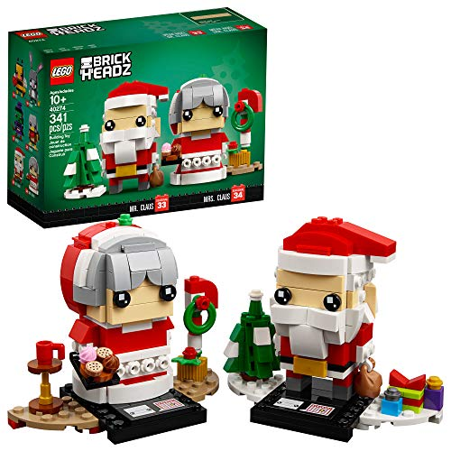 LEGO BrickHeadz Mr. & Mrs. Claus 40274 Building Kit (341 Pieces) (Discontinued by Manufacturer)