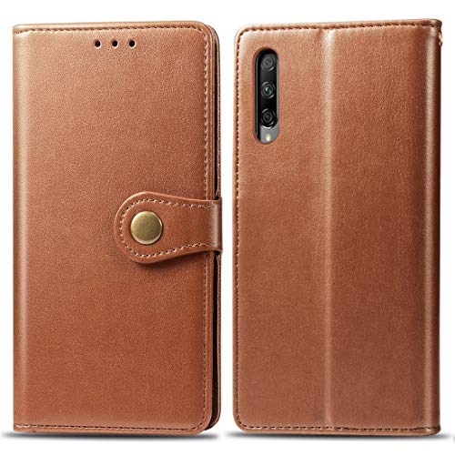 JIAHENG Phone Case Retro Solid Color Leather Buckle Mobile Phone Protection Leather Case with Lanyard & Photo Frame & Card Slot & Wallet & Bracket Function for Huawei Honor 9X Pro(Brown) PU Leath