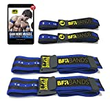 BFR Bands PRO Blood Flow Restriction Bands 4 Pack Bundle for Arms and Legs - Occlusion Training Bands Help You Gain Muscle Without Heavy Weightlifting, Strong Elastic Strap + Quick-Release