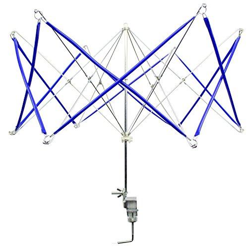 CarAngels かせくり器 玉巻き 糸巻き 折りたたみ式 手芸 毛糸 編み物道具 プラスチック 合金 (ブルー)