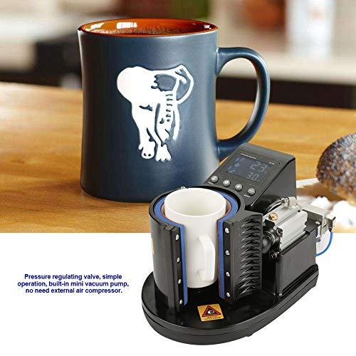 Mug Press Machine, US Plug 110V Pneumatic Auto Mug Transfer Sublimation Heat Press Machine ST-110 Black for Mugs Cup
