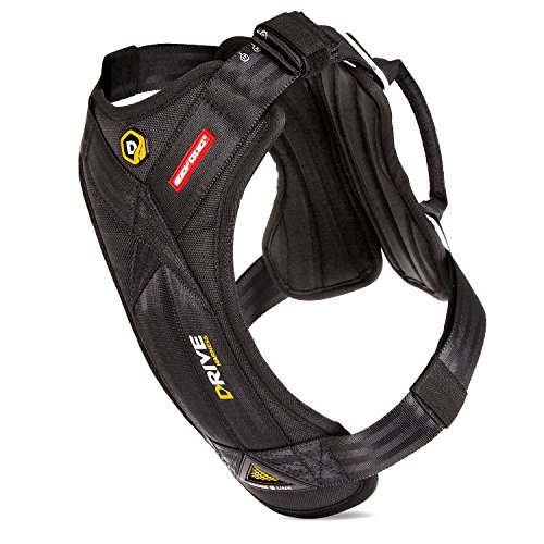 EzyDog Drive Safety Travel Dog Car Harness - Crash Tested US (FMVSS 213) - Premium Vehicle Restraint Vest for Protection and Comfort - Easy One Time Fit and Use with Car Seat Belt (Large)