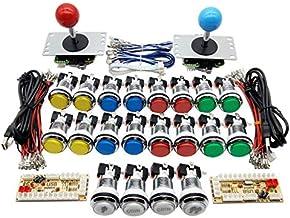 Zero Delay Kit de manette de jeu USB 5 V LED Chrome Bouton poussoir 5 V LED Chrome Arcade 5 V Bouton poussoir Zero Delay E...