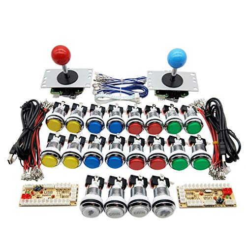 Zero Delay USB Encoder Game Joystick Kit Game Joystick Kit 5V LED Chrome Push Button 5V LED Chrome Push Button DIY Arcade 5V LED Chrome Push Button Zero Delay USB Encoder Zero Delay USB Encoder DIY