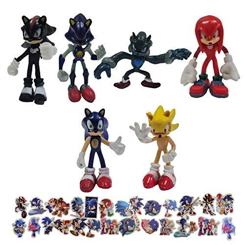 Sonic Anime Figure Sonic Hedgehog Figure Doll Sonic Juguete coleccionable