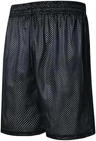 PUAMSS Men's-Basketball Running-Training Workout-Athletic Lightweight-Shorts Sports-Big Tall Double-Side Summer Beach Shorts