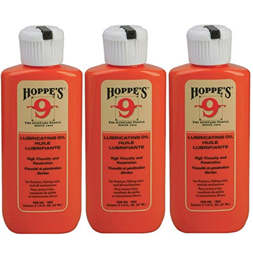 HOPPE'S No. 9 Lubricating Oil, 2-1/4 ounces Bottle (3-Pack)