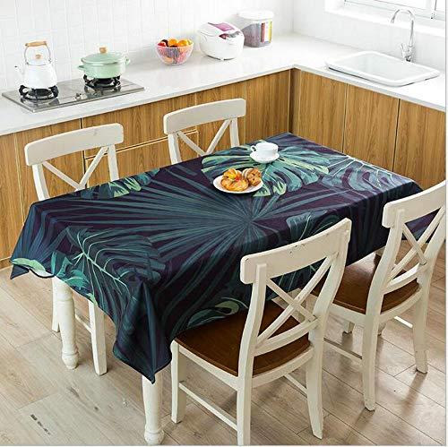 XXDD Mantel Impermeable con Estampado de Venas de Hoja roja, Mantel de Lino para Cocina, Mesa de Comedor, decoración del hogar, Mantel A4 140x200cm