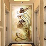 DIY Diamond Painting Kits Talla Grande,Mujer ballet Pintura de Diamante 5D Completo Set Crystal Rhinestone bordado de punto de cruz artes manualidades for Home Wall Decor Gifts Round Drill-36x72in