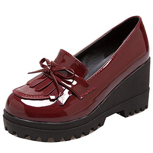 COOLCEPT Femmes Oxford Plateforme Escarpins Chaussures Compensé Franges JiuHong Size 41 Asian