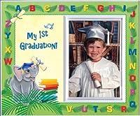 Pre-k Kindergarten Preschool Graduation Picture Frame   Affordable Colorful and Fun   Holds 3.5 x 5 Photo   Keepsake Gift for Parents   Innovative Front-Loading Photo   Elephants Design [並行輸入品]