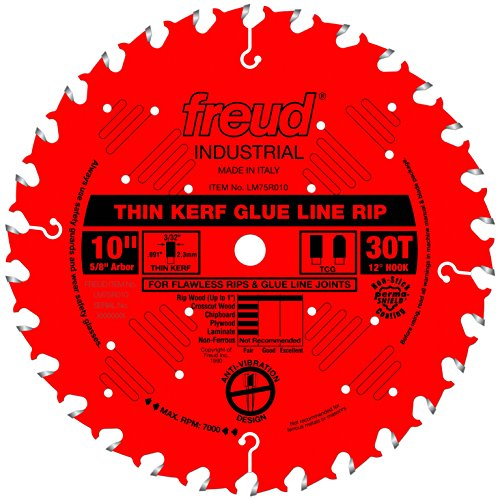 Freud 10' x 30T Industrial Thin Kerf Glue Line Ripping Blade...