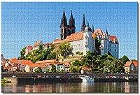 川岸の城-大人のための1000ピースのジグソーパズル脳の挑戦のための子供大教育知的ゲーム家の装飾-50cmx75cm