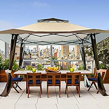 MEWAY 13'x13' Gazebos Tent for Patios Outdoor Canopy Shelter