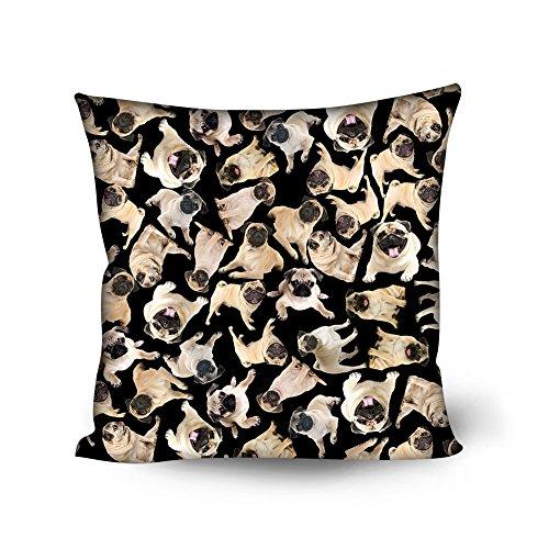 Nopersonality mignon Impression Animal Chien Chat Housse de coussin décoratif Couvre-lit Taie d'oreiller, Polyester, Dog Black, Taille M