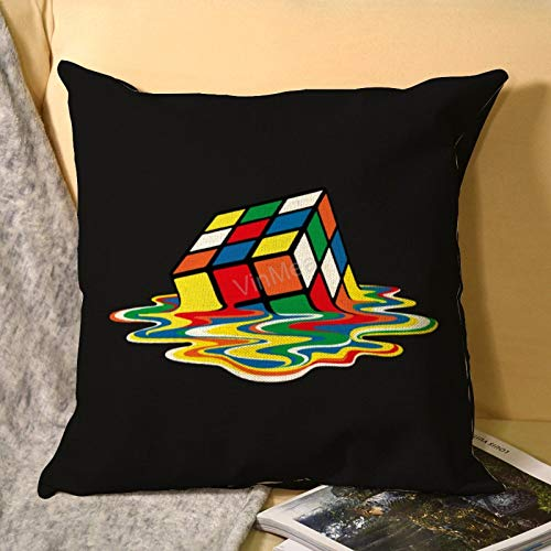 VinMea Decorative Throw Pillowcase Sheldon Cooper - Melting Rubik'S Cube Decorative Pillowcases Cushion Covers For Couch Sofa Living Room, Square 22'X22'