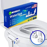WaterSpa - Bidet Toilet Attachment w/Self-Cleaning Dual Nozzle | Non-Electric Mechanical Sprayer with Water Pressure Adjustment | Sanitary & Feminine Wash | Easy to Install (Auto Retract)