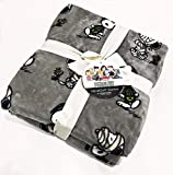 Peanuts Gang by Berkshire Home Designs Snoopy & Woodstock Twin Velvet Soft Plush Blanket with Halloween Motif