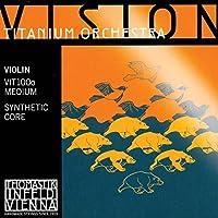 Thomastik Vision Titanium Orchestra 4/4 Violin String Set - Medium Gauge [並行輸入品]