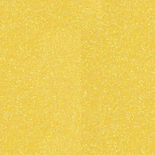 Siser Glitter HTV 20 x 12 Sheet - Iron on Heat Transfer Vinyl (Lemon Sugar)