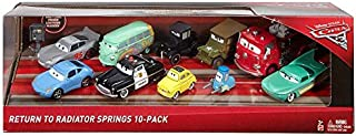 Disney/Pixar Cars 3 Return To Radiator Springs 10-Pack (Includes Lizzie, Sheriff, and Sally)