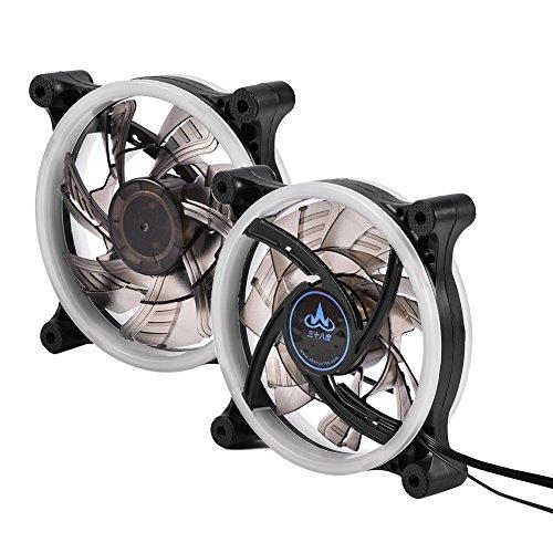 Koelventilator, 120 mm 7-bladige RGB LED instelbaar kleurrijk licht 6-pins computer PC-behuizing Koelventilatoren Hoge luchtstroom Stille koeler voor computer PC-behuizingen