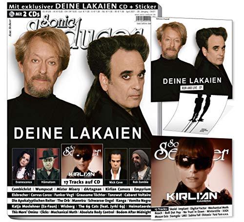 Sonic Seducer 04-21 + 2CDs: Deine Lakaien + exkl. CD & Sticker + Evanescence + Nick Cave + Hämatom + Rob Zombie + Kirlian Camera + Eisbrecher + ... + Wumpscut + Corvus Corax + 17 Track CD