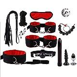 Tinydding 13Pcs/Set Leather Set Kit TÔys Ãdǘlt TÔys Bèd Game Bds&m ReŠtraints Kit Fetish Kits-Ś#M Game Tọọls for Cọuple (Color : Red)