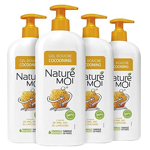 Naturé Moi – Gel douche cocooning à l'extrait de miel bio du Limousin – Hydrate et nourrit les peaux normales à sèches – 750ml