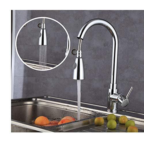 Küchenarmatur Ausziehbar Wasserhahn mit 2 Strahlarten Armatur Küche 360° Drehbar Einhebelmischer Mischbatterie Einhand Spültischarmatur