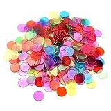 JieGuanG 100 Pezzi contatori Che contano gettoni da Bingo marcatori di plastica per Matematica o Giochi (Multicolore)