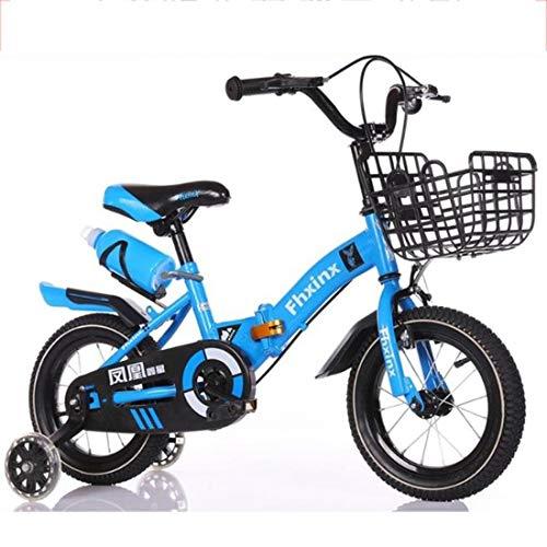 Dsrgwe Bicicletas Infantiles Los niños Plegable Bicicleta con el Soporte de la...