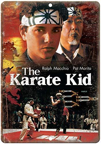 The Karate Kid Póster de Pared Metal Creativo Placa Decorativa Cartel de Chapa Placas Vintage Decoración Pared Arte para Carretera Bar Café Tienda