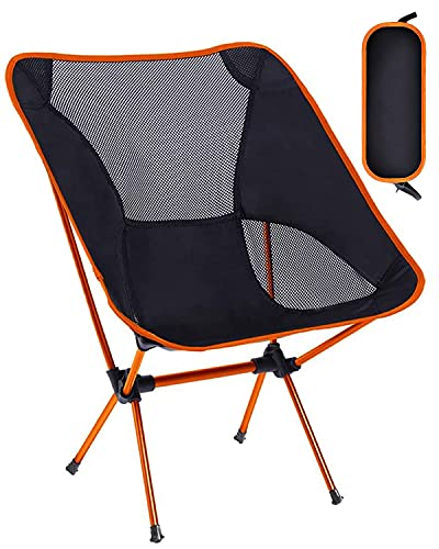 Gaoni Folding Camping Chair, Strong Sturdy Portable Folding Chairs Outdoor Lightweight with 2 Pocket and Carry Bag, Folding Garden Chairs for Outdoor, Travel, Hiking, Camp, Fishing, Picnic, Gift
