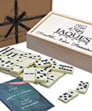 Jaques of London Dominoes - Club Double Nine Dominoes Set dans Un Couvercle en Bois Slide D9 Box