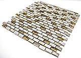 Azulejos de mosaico 30 x 30 cm oro plata cristal...