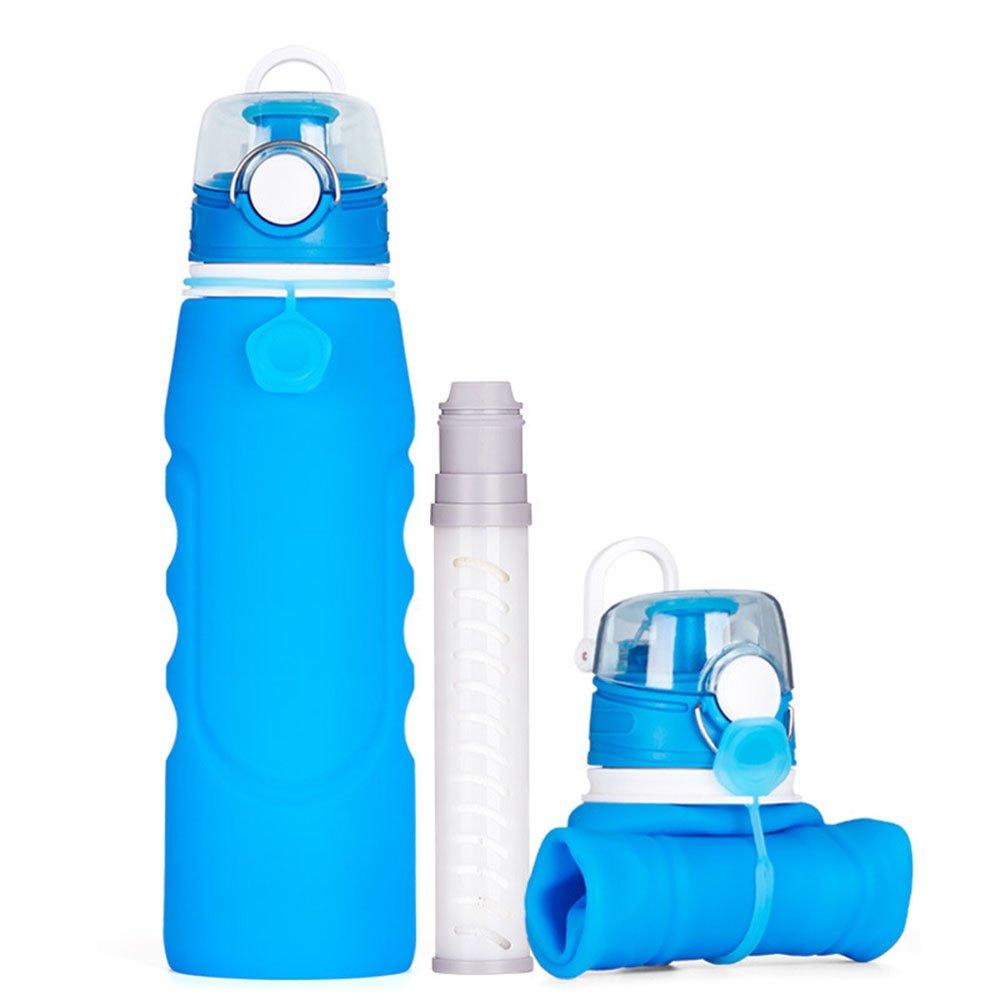 WJW Botella de Filtro, purificador de Agua al Aire Libre, Filtro ...