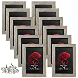 4x6 Picture Frames Set of 12 Rustic Distressed Art Wall Hanging Table Desk 6x4 Family Gallery Multi Photo Frame