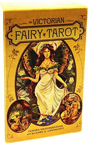 HEZHANG Tarot Witchcraft-Weissagung Gamevictorian Fairy Tarot Cardsdeck Papier Texturea-Brettspiel Für Freunde, Die Zusammenfassen