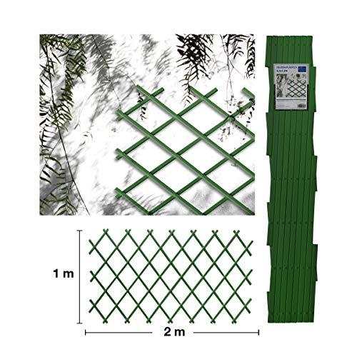 Comercial Candela Celosia Extensible Plastica Color (1x2 Metros, Verde)