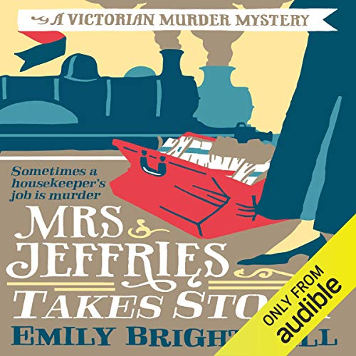 Mrs Jeffries Takes Stock audiobook cover art